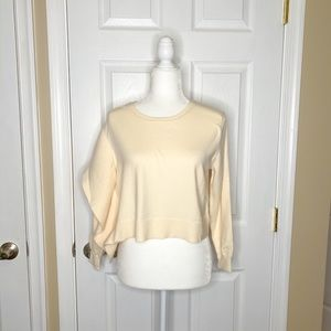 ZARA Women's Sweater Creme Cropped Pullover NWT